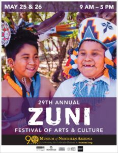 Flyer from 29th annual Zuni Festival of the Arts
